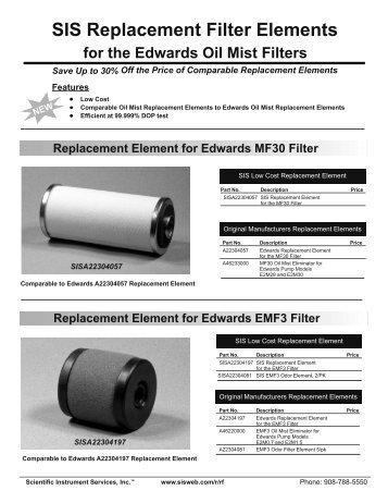 SIS Replacement Element_Layout 1 - Scientific Instrument Services ...
