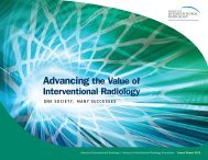 Advancing the Value of Interventional Radiology - SIR Foundation