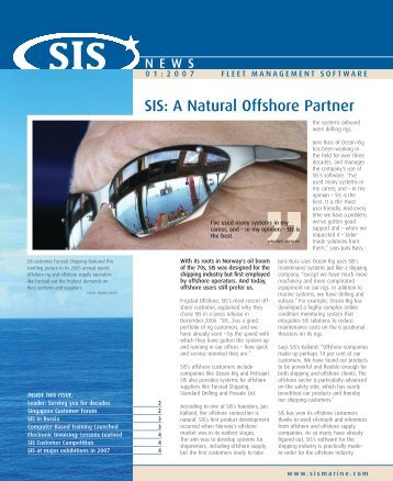 SIS News 2007 - 1st Edition - Star Information Systems