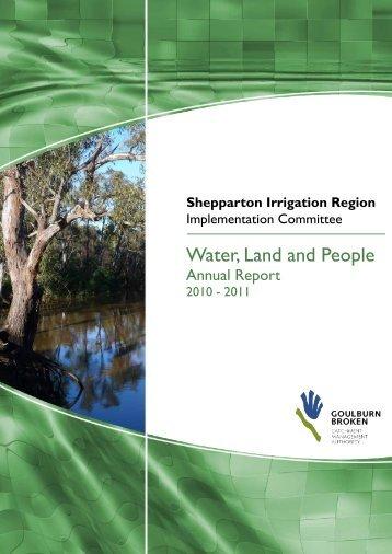 Shepparton Irrigation Region Implementation Committee - Goulburn ...