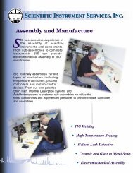 Assembly and Manufacturing Capabilities at SIS - Flyer - Scientific ...