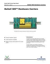 DeltaV SIS Hardware Carriers - Emerson Process Management