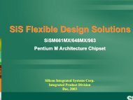 SiS Flexible Design Solutions - Silicon Integrated Systems