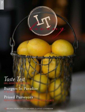 Taste Test - Laurent Tourondel