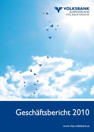 und Verlustrechnung 2010 - Volksbank Alpenvorland