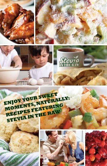 RECIPES FEATURING STEVIA IN THE RAW