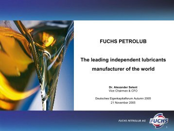 million - Fuchs Petrolub AG