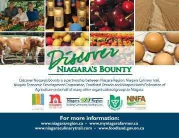 For more information: - Regional Municipality of Niagara