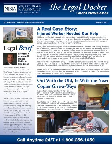 A Real Case Story: Injured Worker Needed Our - Neblett, Beard ...