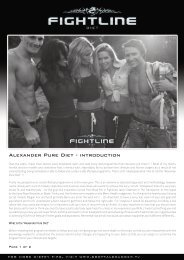 ALExANDER PURE DIET - INTRODUCTION - Fightline Diet