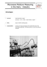 Microwave Moisture Measuring in the Dairy - Industry