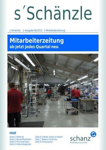 Mitarbeiterzeitung - Schanz GmbH