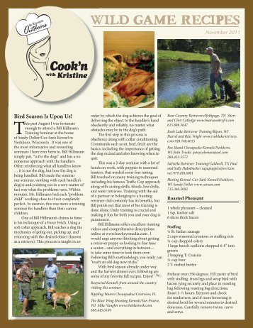 Cook'n - On Wisconsin Outdoors