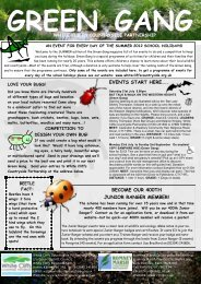 Green Gang Summer 2012 activities - River Primary School