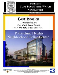 Newsletter Special Edition.pub - Fort Worth Police Department