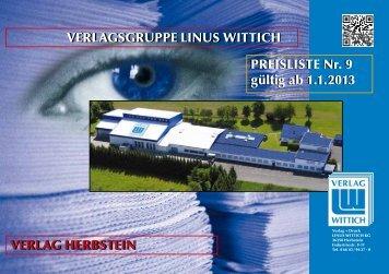 Mediadaten Verlag+Druck LINUS WITTICH Herbstein ab 01.01