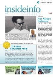 Jubiläumsausgabe 1/08 (PDF) - Schulthess Klinik