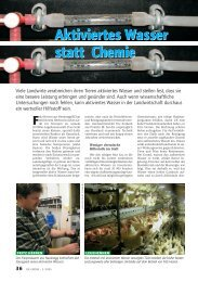 Aktiviertes Wasser statt Chemie - BioQuel