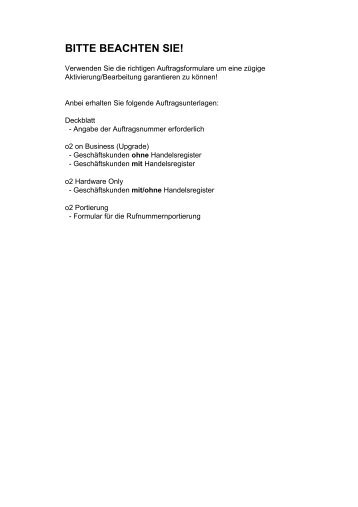 BITTE BEACHTEN SIE! - MediaVersand.de