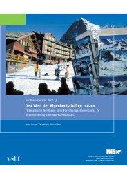Den Wert der Alpenlandschaften nutzen - Schweizerischer ...
