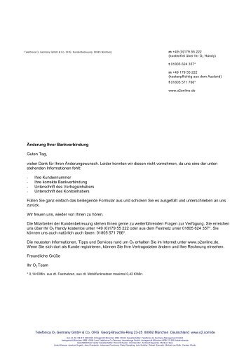 Bankverbindungänderung - elisgmbh.de