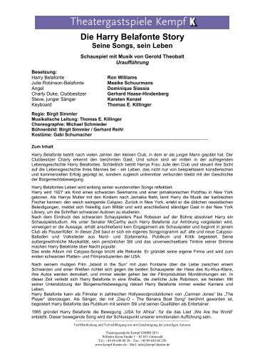 Die Harry Belafonte Story - Theatergastspiele Kempf GmbH