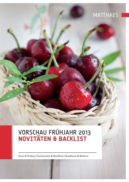 Vorschau frühjahr 2013 NovitäteN & Backlist - Matthaes Verlag GmbH