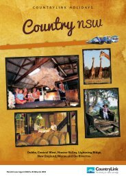 Country NSW brochure - CountryLink