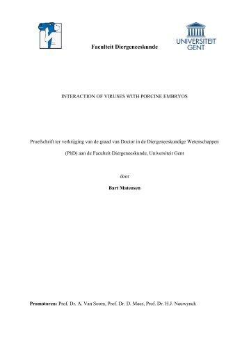 Faculteit Diergeneeskunde - Department of Reproduction, Obstetrics ...