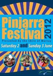 Pinjarra Festival Program - the Shire of Murray