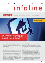 Geschäftsbereich Immobilien und Wohnungswirtschaft ... - Comline AG