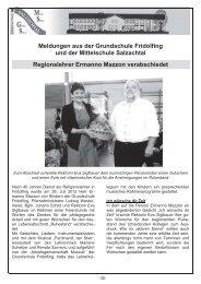 Meldungen aus der Grundschule Fridolfing und der Mittelschule ...