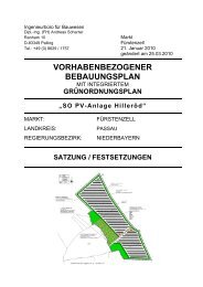 VORHABENBEZOGENER BEBAUUNGSPLAN - Fuerstenzell.de