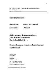 Markt Fürstenzell Gemeinde: Markt Fürstenzell ... - Fuerstenzell.de