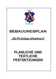 BEBAUUNGSPLAN - Fuerstenzell.de