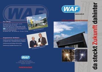 Das sind wir. - WAF Fassadenelemente GmbH