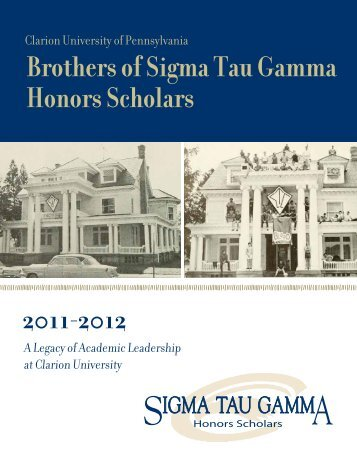 Brothers of Sigma Tau Gamma Honors Scholars - Clarion University