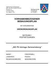 SO PV-Anlage Zwieselsberg - Fuerstenzell.de