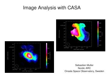 Image Analysis with CASA - ESO