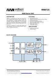 WM8725, Rev 4.3 - Wolfson Microelectronics plc