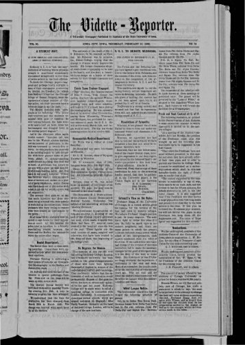 February 10 - The Daily Iowan Historic Newspapers - University of ...