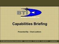 Capabilities Briefing - Brockwell Technologies