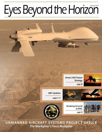 "Army Program Manager for UAS semiannual magazine ""Eyes"