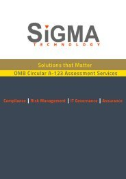 OMB Circular A-123 - Sigma Technology Partners
