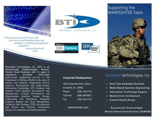 Brochure - Brockwell Technologies
