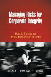 Managing Risks for Corporate Integrity - Lynn Brewer