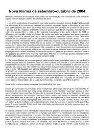 Nova norma do Sigma Test (outubro de 2004 - Sigma Society