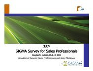 SIGMA Survey for Sales Professionals - Sigma Assessment Systems ...