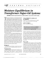 Moisture Equilibrium In Transformer Paper-Oil Systems - Electrical ...