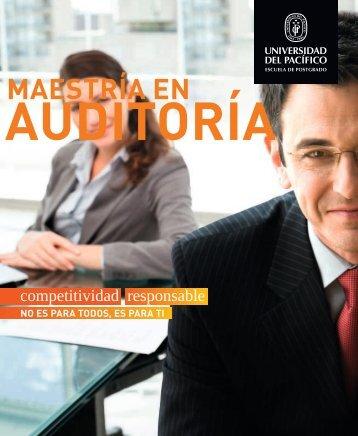 Brochure de la Maestría en Auditoría - Universidad del Pacífico